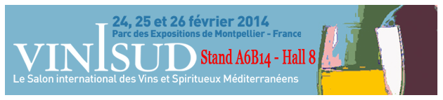 ViniSud 2014 - Domaine des Lauriers - Stand A6B14 - Hall 8